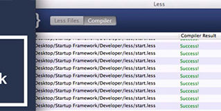 Transfer CSS to LESS when Building a Website with Startup Framework