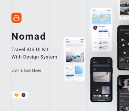 Nomad iOS UI Kit by Robert Licau